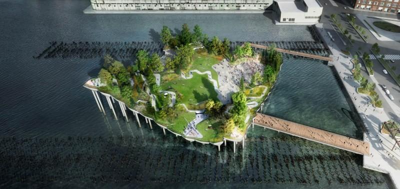 Pier 55: Un parque flotante en Nueva York