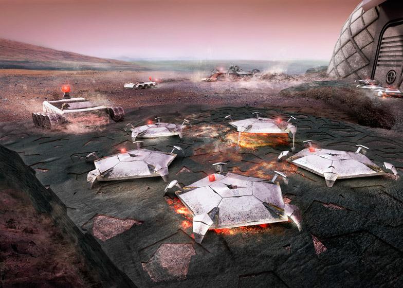 Viviendas en Marte construidas mediante impresión 3D