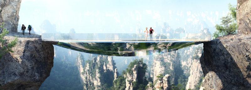 Impresionante mirador en China