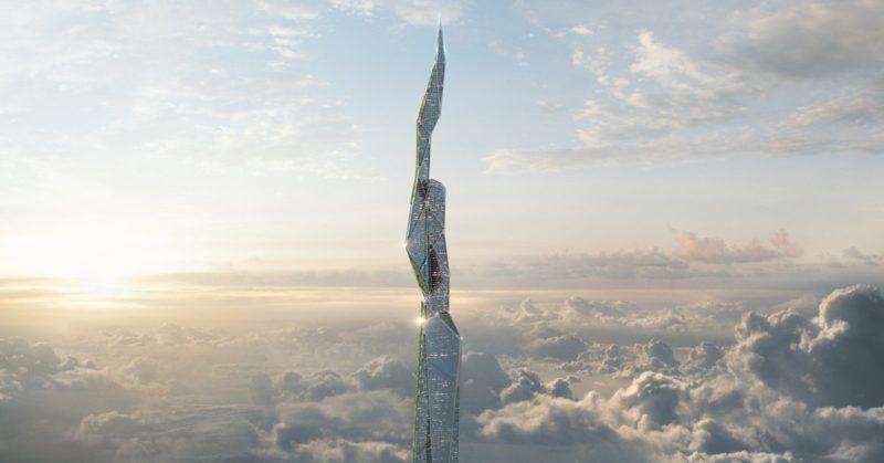 Este rascacielos de 4.800 metros de altura se «come» la contaminación