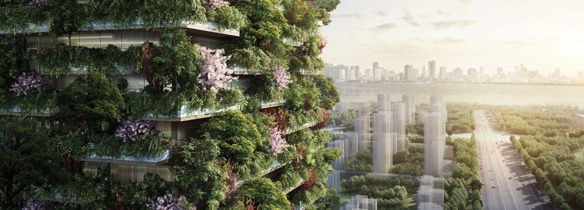 Las primeras torres con jardín vertical en China