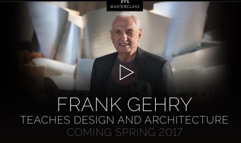 Masterclass online de Frank Gehry
