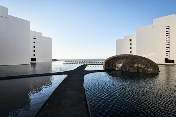 Mar Adentro, un hotel flotante en México.